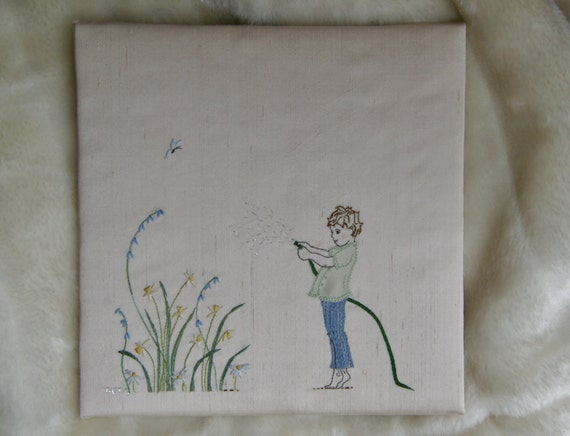Modern hand embroidery pattern instant