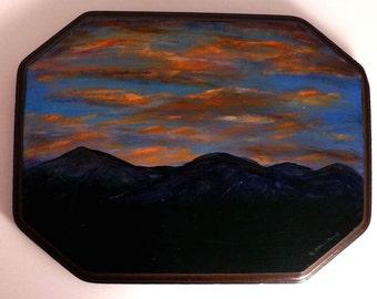 Mountain Sunrise Wood Plaque