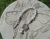 Goddess Of The Thirteen Moons Rosary Pagan Wiccan Prayer beads Meditation Pentagram
