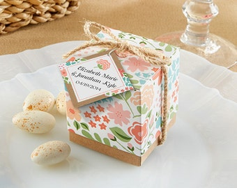 Personalized Favor Box (Set of 24), candy favor boxes, spring theme favors
