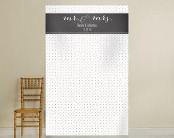 Personalized Photo Backdrop; Photo Backdrop, Wedding Decorations, Personalized Bridal ShowerDecorations