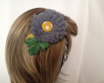 Sun Shower Yellow & Grey Floral Hair Accessory