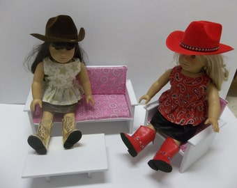 """Couch Chair and Coffee Table for American Girl Dolls and All 18"""" Dolls"""