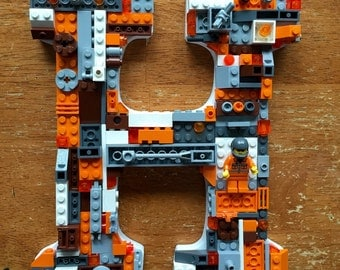 Custom toy brick wall letter, letter H