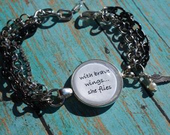Inspirational Bracelet - Brave Wings