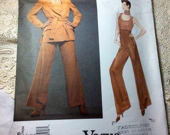 Vogue Montana Paris Original Pattern, Vogue 1326, Jacket, Pants and Top, Uncut, Size 8, 10, 12