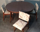 Mid-Century Danish Modern Dining Table W/4- Chairs / Jens Rimson Style - Mad Men / Eames Era Decor *SHIPPING NOT INCLUDED*