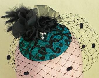 FASCINATOR HAT -  Evening hat
