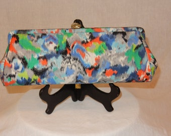 Silk-clutch vintage purse