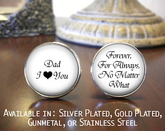 Father of the Bride Cufflinks - Personalized Cufflinks - Dad I Love You Cufflinks - Father of the Bride  - Father of the Bride Cufflinks