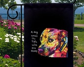 Dog Wags Tail With Heart Pit Bulls New Small Garden Yard Flag Decor Gifts