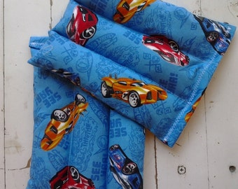 Kid's Small Rice Bags Set of 2 Hot Wheels Motif Rice Bags Microwave and Freezer Kids Rice Bags