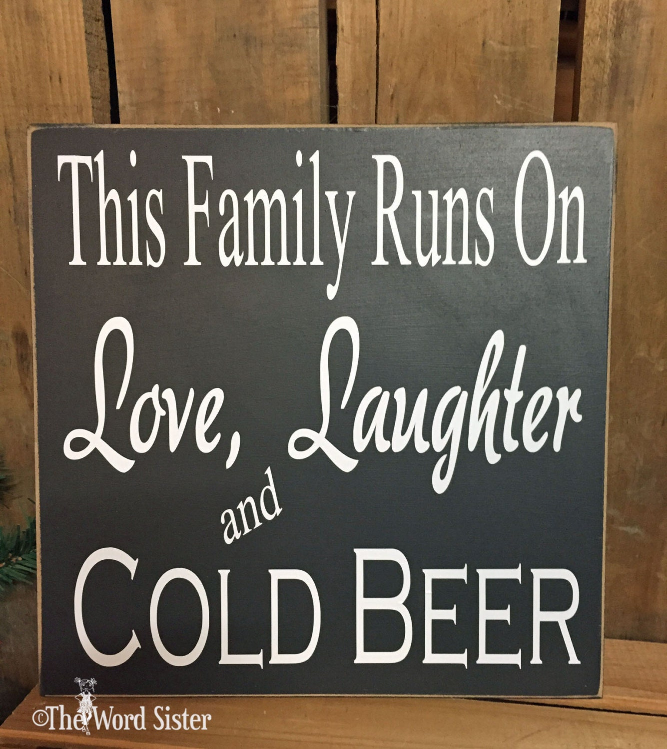 Beer Sign Bar Wall Decor This Family Runs On Love