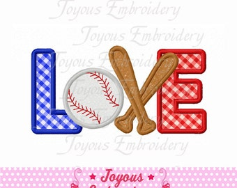 Instant Download Love Baseball Embroidery Applique Design NO:1615