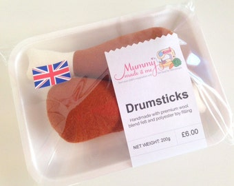 Felt Pretend Play Food Drumsticks