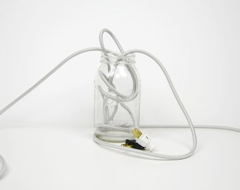 Pendant Light Cord Set (8-Foot) - Silver - Round Nylon Cloth-Covered Wire (3-Conductor)