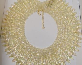 Vintage Acrylic Beaded Collar