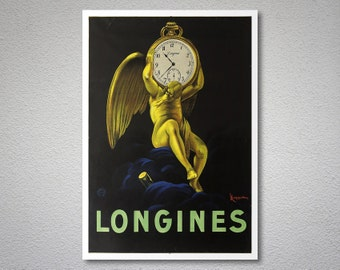 Longine Vintage Poster by Leonette Cappiole - Poster Paper, Sticker or Canvas Print / Gift Idea
