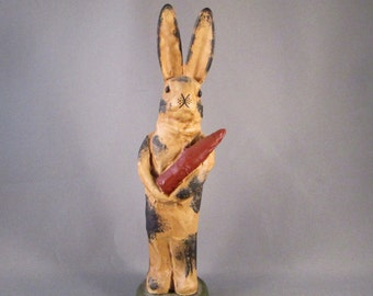 Rabbit Figurine with Carrot