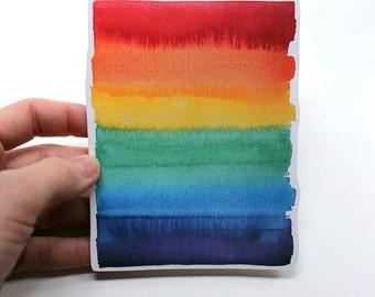 LGBT Flag, lgbt Pride, Gay Pride, Gay Art, lgbt Sticker, Bumper Sticker, Vinyl Sticker, Laptop sticker, Rainbow Flag, watercolor sticker
