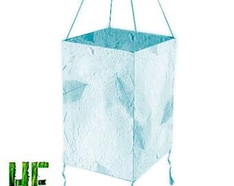 Handmade Blue Paper Leaf Lantern
