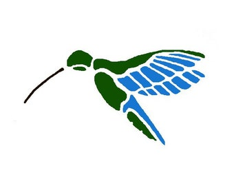 Bird wall stencil. Hummingbird. Wall decor. Art for children's bedrooms, baby's nursery.