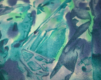 Batik Water Colors Wave Fabric Retired Out of Print FQ