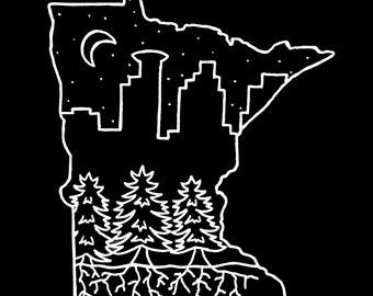 Minnesota State Art Print