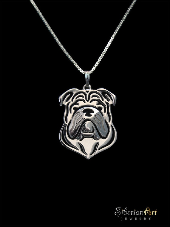 bulldog jewelry sterling silver pendant and necklace