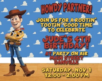 Toy Story Woody Invitations - 20 Invites