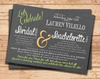 Wedding Shower Invitation. Bridal Shower Invitation. Bachelorette Party Invite. Chalkboard. Printable Invitation. DIY Wedding. Party Invite