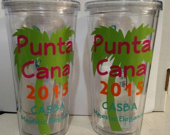 Personalized Plastic Tumbler with Straw