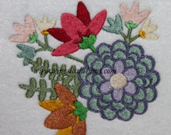 Spring Flowers Digitized Machine Embroidery Design