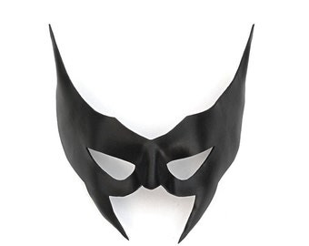 Leather Mask Wolverine Black Huntress X-Men Batman Batwoman Batgirl Comic Cosplay Masquerade Carnival Halloween Mardi Gras Costume Hero Con