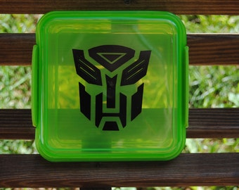 Transformer Green Lunch Box Sandwich keeper Personalized