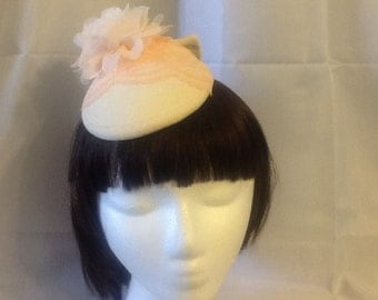 Pale Peach Felt Fascinator