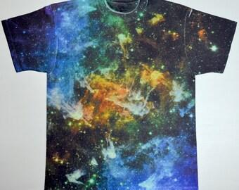 Man Space galaxy print T-Shirt (336)