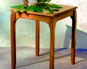 "Original ""Deco Minima"" Side or End Table, Art Deco/ Modern, Solid Wood Handcrafted Design"