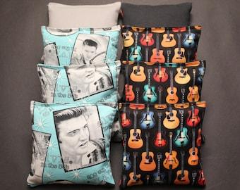 ELVIS Cornhole Bean Bags 8 ACA Regulation Rock n Roll Guitar Corn Hole Bags Great party or gift idea
