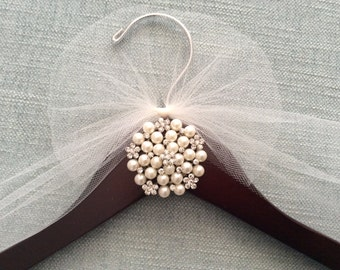 Bridal Hanger,  Wedding Shower Gift, Wedding Dress Hanger, Jewels & Rhinestone Hanger