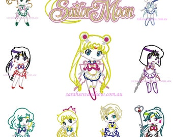 Sailor Moon Inspired Embroidery Design Set