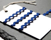 Ribbon Royal Blue 9mm Ric Rac Braid