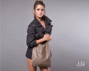 Olive gray leather bag - leather tote - women bags Black Friday SALE leather handbag - leather shoulder bag  brown leather bag gift for her