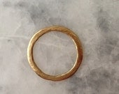 48mm Gold Connector Ring, Open Circle, Hammered, Necklace, Jewelry Supplies