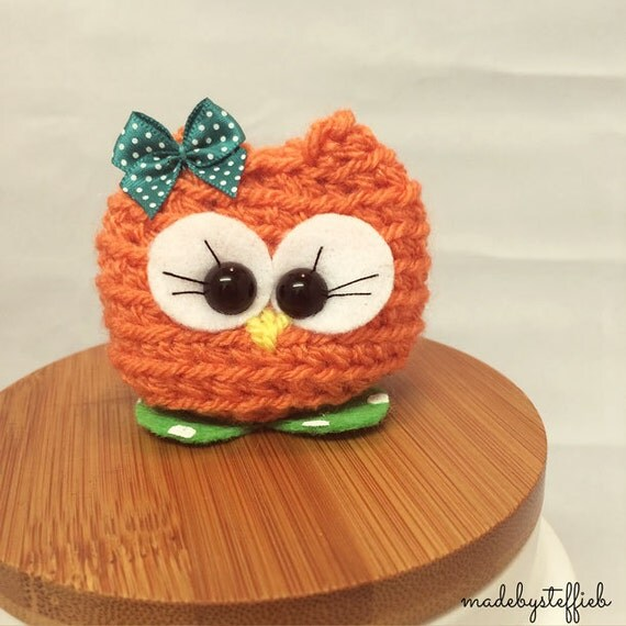 Luca the owl Amugurumi finished item comes in a box
