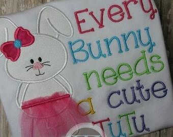 Easter Bunny Tutu Shirt for Girls - Easter Tutu Shirt - Easter Bunny - Girls Easter Shirt - Cute Bunny  - Easter Bunny Shirt -Premium Design