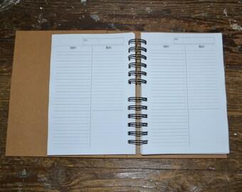 2016 2017 2018 Planner, Undated, Recycled, Daily Planner, 2017 Calendar, Notebook, Teacher Planner, Student Agenda, To Do List Journal