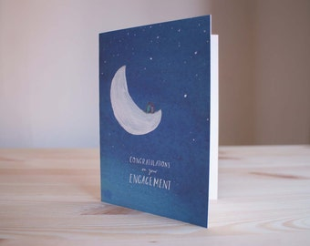 On the Moon - Engagement Card