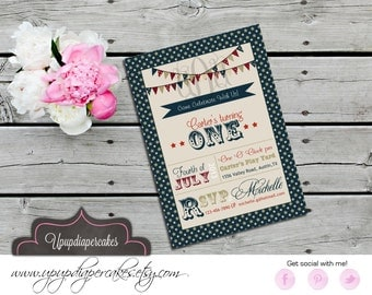 4th of July Invitation--Independence Day Invite--Fourth of July Invitation--Digital Invitation--Printable--DIY