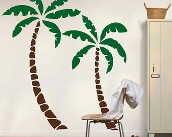 Palm Tree Decals   Palm Tree Wall Sticker Murals   Nursery Palm Tree Mural    Palm